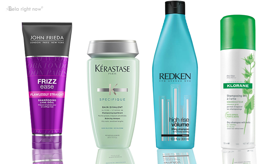 Shampoos for different hair types